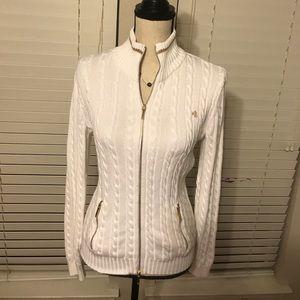 Lauren Ralph Lauren zip up cardigan S
